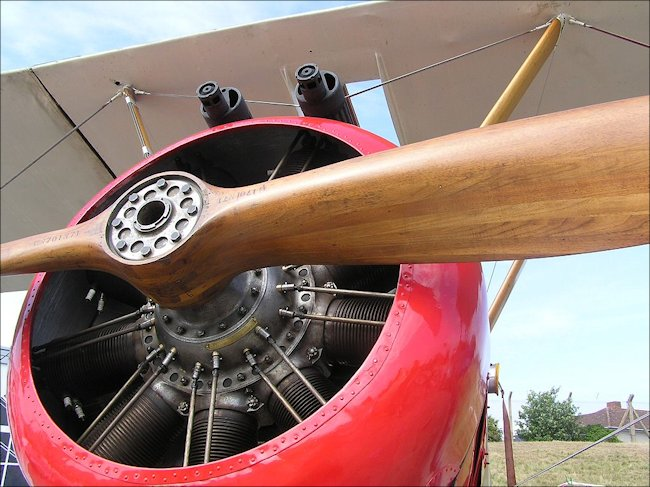 The Royal Navy Air Service used the Sopwith Pup fighter biplane