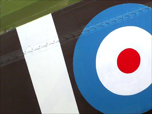 The Royal Flying Corps rondel on the Sopwith Pup fighter biplane