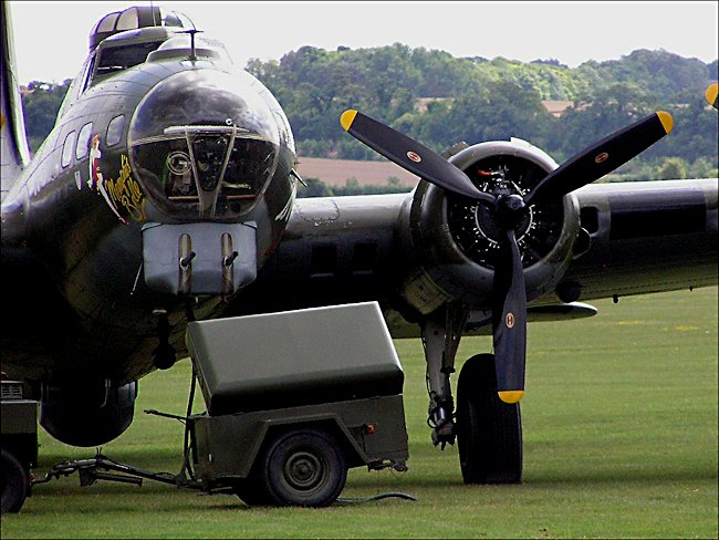WW2 Boeing B17 Flying Fortress bomber
