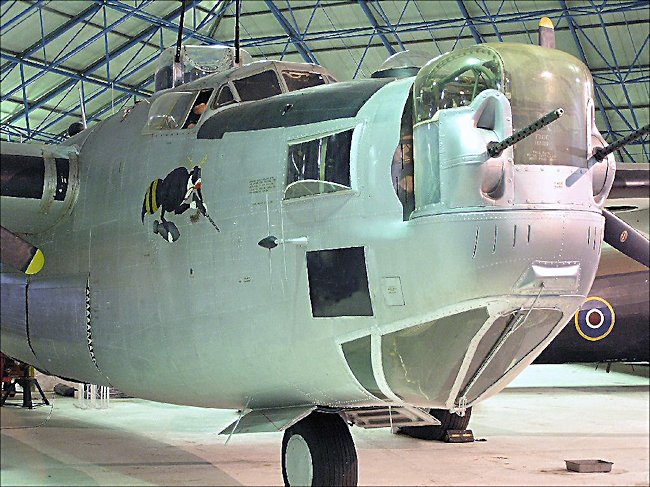 WW2 Consolidated B-24 Liberator heavy bomber front turret