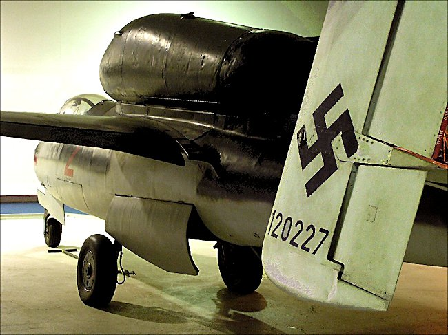 WW2 German Luftwaffe Heinkel He 162 jet fighter