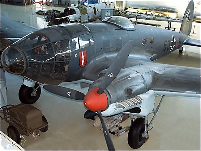 Surviving Restored WW2 German Luftwaffe Heinkel He 111 Bomber
