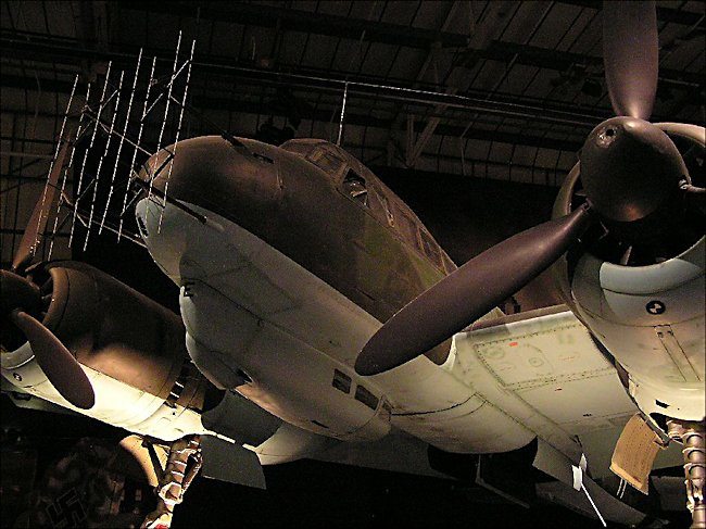 nose radar fitted on a WW2 German Luftwaffe Junkers JU88 Medium Bomber and night-fighter