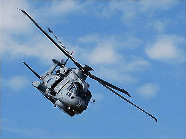 Royal Navy AgustaWestland AW101 Merlin Medium Support Helicopter