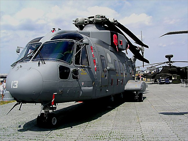 British Navy AgustaWestland AW101 Merlin Medium Support Helicopter
