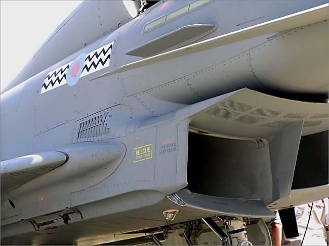 RAF Typhoon 2 eurofighter Fighter Bomber engine intakes