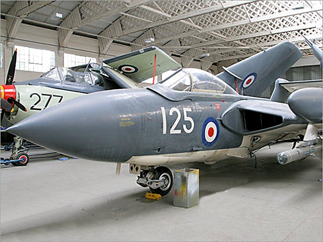 Royal Navy de Havilland Sea Vixen Jet fighter
