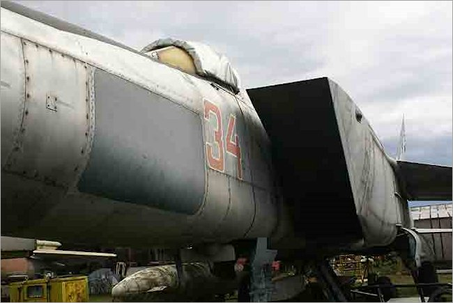 Soviet Russian Surviving Mikoyan MiG-25 RBS Foxbat Jet Fighter in Riga