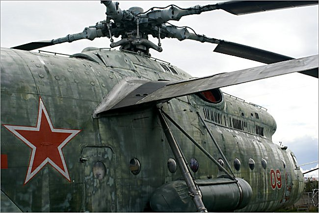 The wing was needed for extra lift on the Soviet Russian Surviving Mil MI-6 Hook Soviet heavy transport helicopter