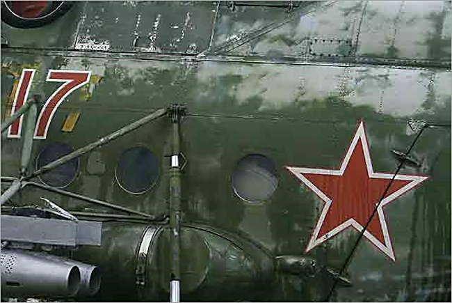Soviet Russian Surviving Mil Mi-8 Hip Air Support Helicopter markings